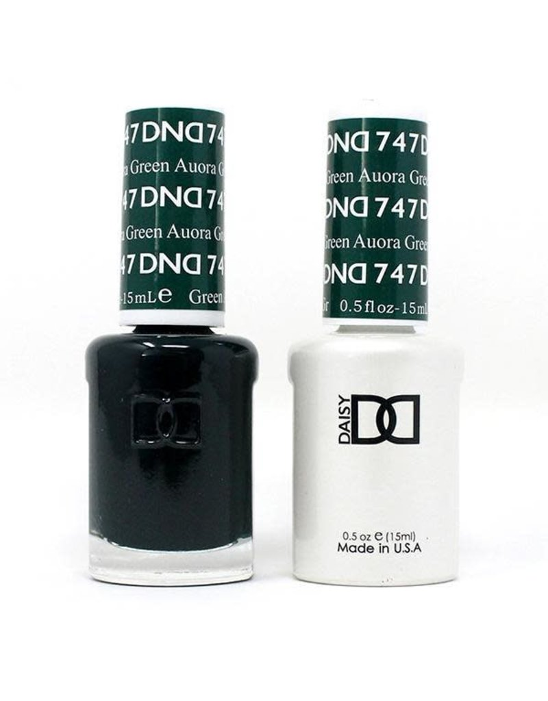 DND 747 Auora Green - DND Duo Gel + Lacquer