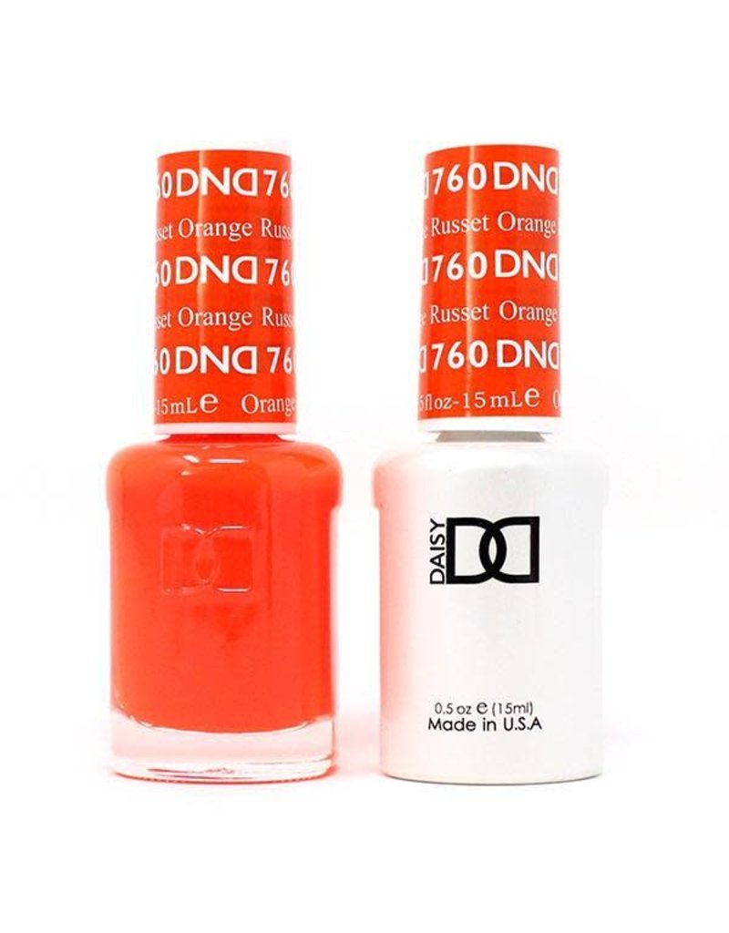 DND 760 Russet Orange - DND Duo Gel + Lacquer