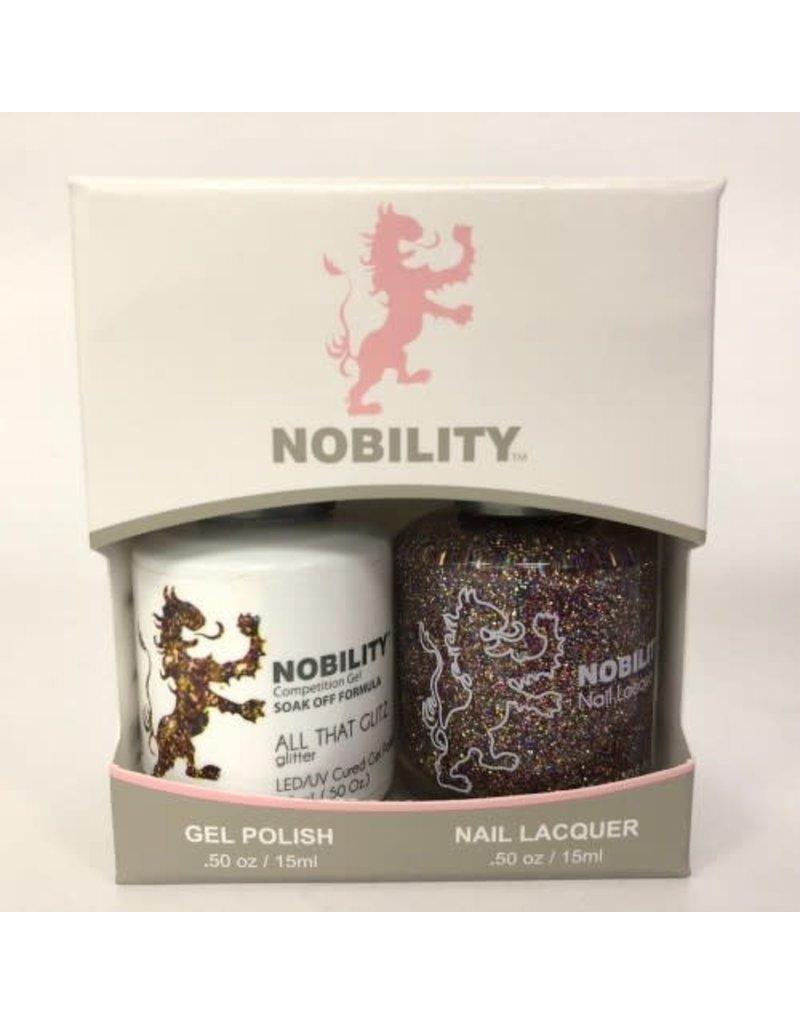 Nobility NBCS072 All that Glitz - Nobility Duo Gel + Lacquer