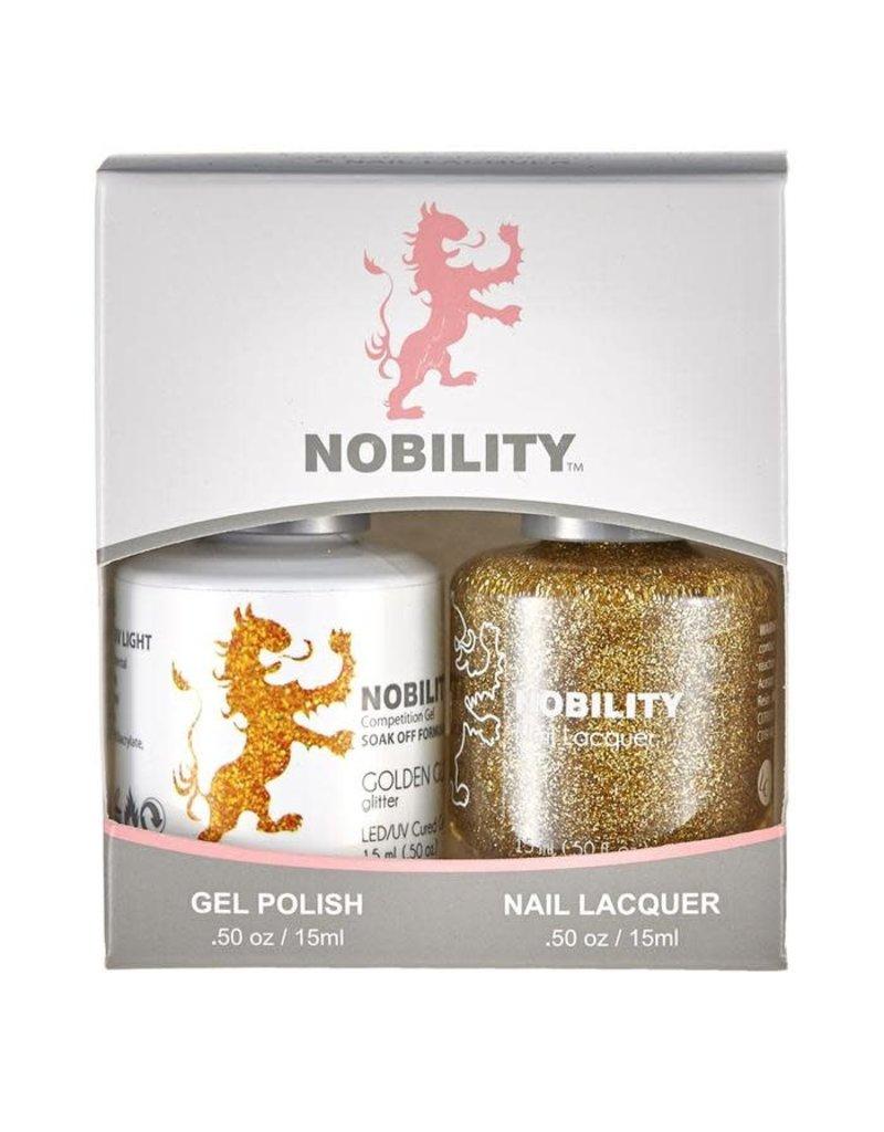 Nobility NBCS067 Golden Glitz - Nobility Duo Gel + Lacquer