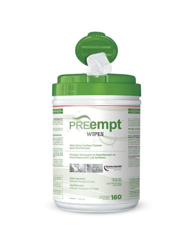 Preempt Wipes - 160 Sheets