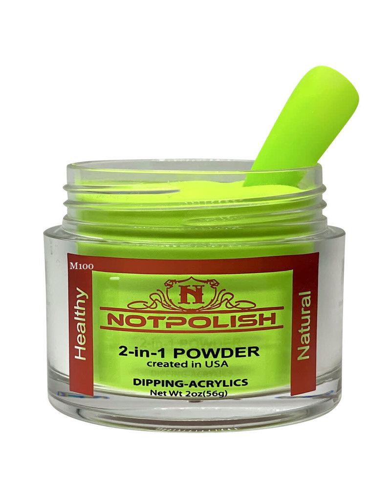 NOTpolish Notpolish 2-in1 Powder 2 oz. - M100 Hot Lime Bling