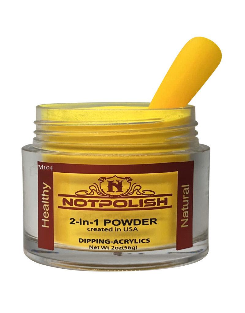 NOTpolish Notpolish 2-in1 Powder 2 oz. - M104 Yellow Mamba
