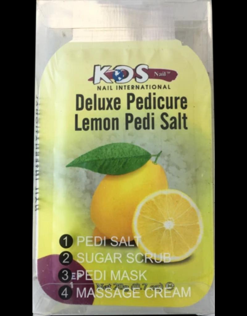 Deluxe Pedi Spa 4 in 1 - Lemon - 1.Pedi Salt 2. Sugar Srub 3.Pedi Mask 4.Massage Cream