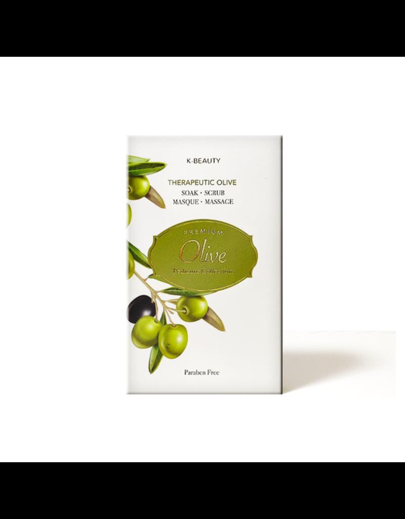 K-Beaty 4 in 1 - Olive Pedicure Collection - 1. Salt Soak 2. Sugar Srub 3. Cream Mask 4. Massage Lotion