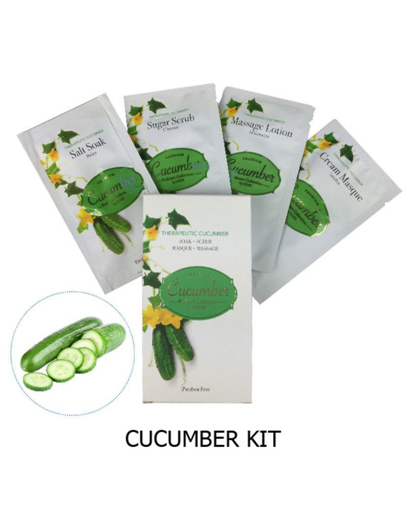 K-Beaty 4 in 1 - Cucumber Pedicure Collection - 1. Salt Soak 2. Sugar Srub 3. Cream Mask 4. Massage Lotion