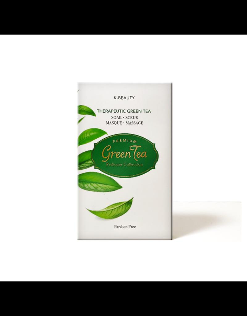 K-Beaty 4 in 1 - Green Tea Pedicure Collection - 1. Salt Soak 2. Sugar Srub 3. Cream Mask 4. Massage Lotion