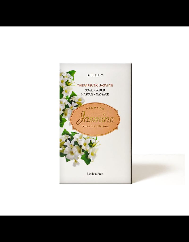 K-Beaty 4 in 1 - Jasmine Pedicure Collection - 1. Salt Soak 2. Sugar Srub 3. Cream Mask 4. Massage Lotion