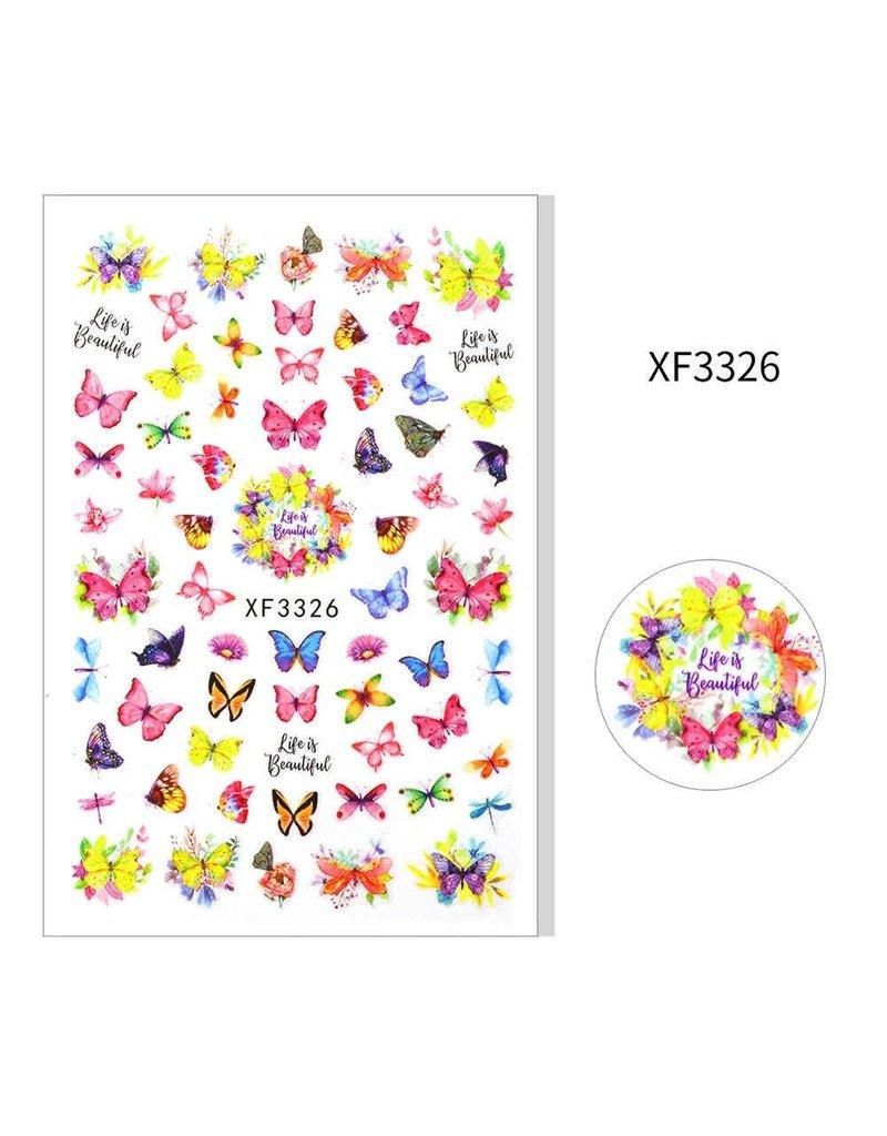 XF3326 Nail Sticker - Butterfly