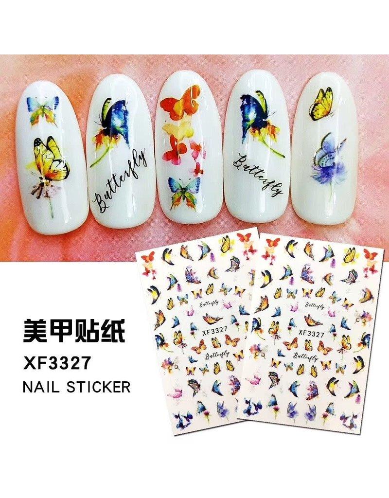 XF3327 Nail Sticker - Butterfly