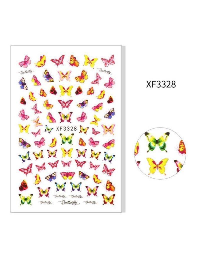 XF3328 Nail Sticker - Butterfly