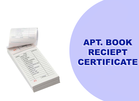 APPOINTMENT BOOKS, RECIEPTS , CERTIFICATES