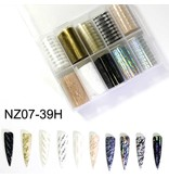 Nail Art Accessories - Letters Foil Box ( Box of 10)