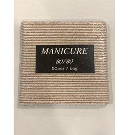 Nail File - Mini - Manicure - Zebra - 80/80 - Case (100pcs)