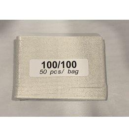 Nail File - Mini - No Name - White - 100/100 - Case (100pcs)