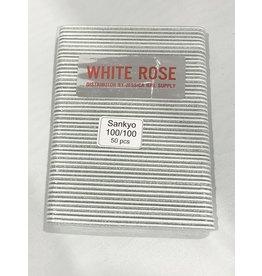 Nail File - Mini - White Rose -  Sankyo - 100/100 - Case (100)