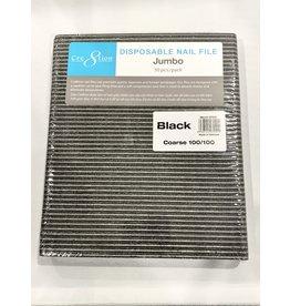 Nail File - Jumbo - Cre8tion - Black - 100/100 - 50 pcs