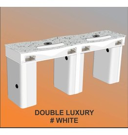 Nail Table Double Luxury - White