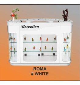 Reception Desk Roma_White Silver