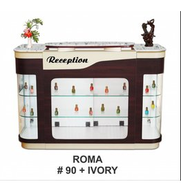 JESSICA Nail & Beauty Supply Ltd. Reception Desk Roma_Ivory