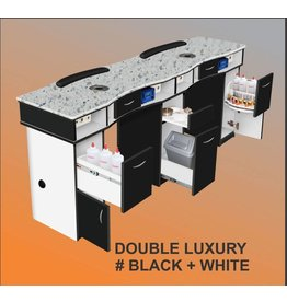 JESSICA Nail & Beauty Supply Ltd. Nail Table Double_Black & White