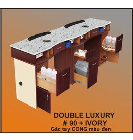 Nail Table Double Luxury_Ivory