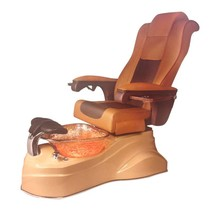 Aqua Spa Rainbow - 9625 Butterscotch Chairs - Cappuccino Base - Gold Reflections Glass Bowl