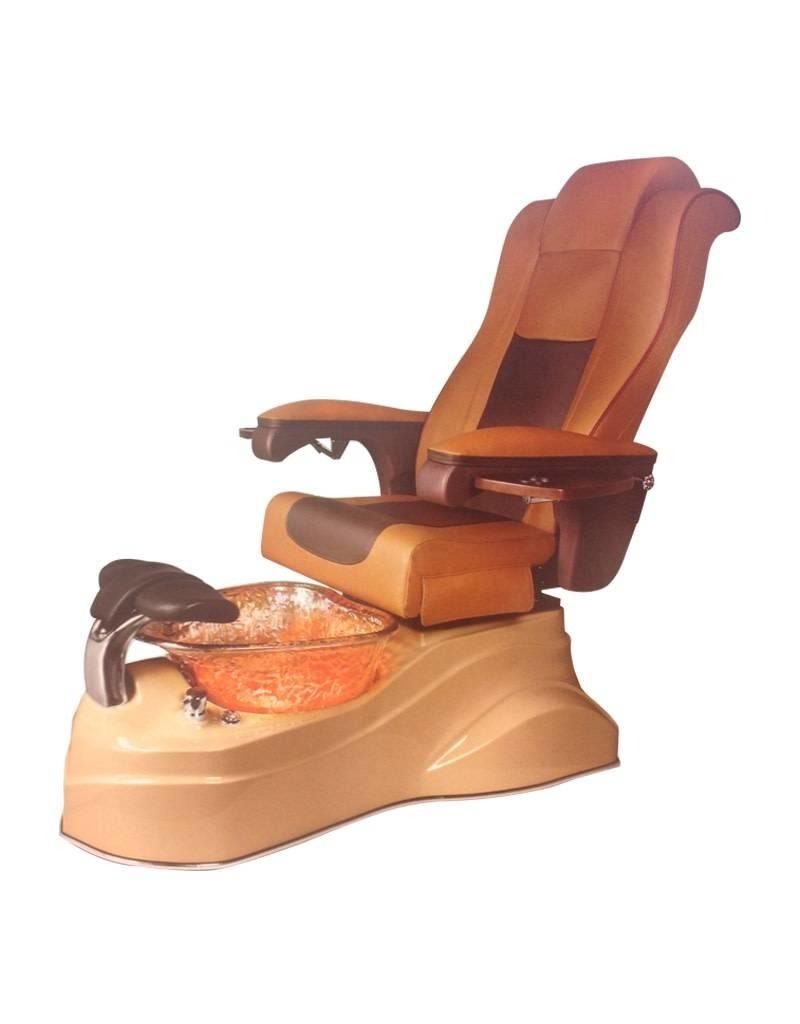 AQUA Spa Aqua Spa Rainbow - 9625 Butterscotch Chairs - Cappuccino Base - Gold Reflections Glass Bowl