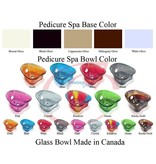AQUA Spa Aqua Spa 8 - 9625 Biscuit base - Colorful Glass Bowl