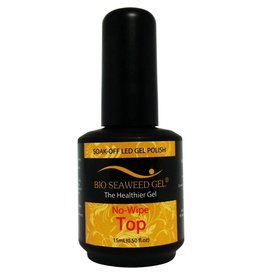 Bio Seaweed Gel No-Wipe Top Coat  15ml - Bio Seaweed Gel Color