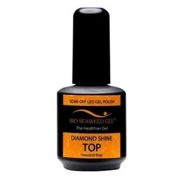 Bio Seaweed Gel Diamond Shine Top Coat 15ml - Bio Seaweed Gel Color