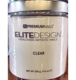 Premium Nails Clear 220g- Dip Powder - Healthier Artistic Nails - ELITEDESIGN PREMIUM NAILS