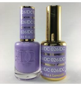 DND 026 CROCUS LAVENDER - DND DC Duo Gel Matching Color