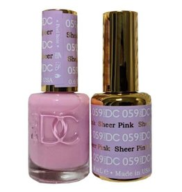 DND 059 SHEER PINK - DND DC Duo Gel Matching Color