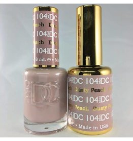 DND 104 DUSTY PEACH - DND DC Duo Gel Matching Color