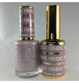 DND 105 BEIGE BROWN - DND DC Duo Gel Matching Color