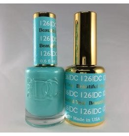DND 126 BEAUTIFUL TEAL - DND DC Duo Gel Matching Color
