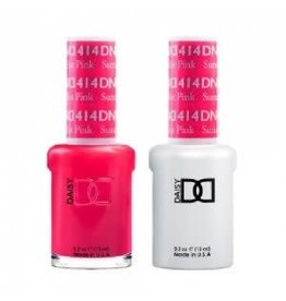 DND 414 Summer Hot Pink - DND Duo Gel + Lacquer