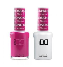 DND 420 Bright Maroon - DND Duo Gel + Lacquer