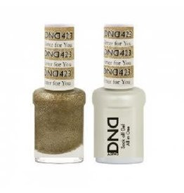 DND 423 Glitter For You - DND Duo Gel + Lacquer