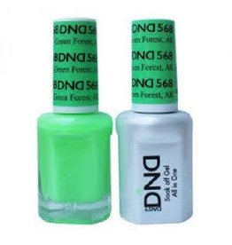 DND 568 Green Forest AK - DND Duo Gel + Lacquer