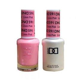 DND 591 Linen Pink - DND Duo Gel + Lacquer