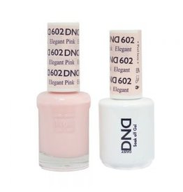 DND 602 Elegant Pink - DND Duo Gel + Lacquer