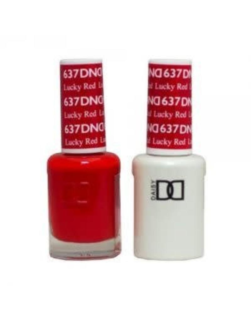 DND 637 Lucky Red - DND Duo Gel + Lacquer