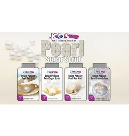 KDS Nail International Deluxe Pedi Spa 4 in 1 - Pearl - 1.Pedi Salt 2. Sugar Srub 3.Pedi Mask 4.Massage Cream