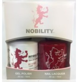 Nobility NBCS031 Rich Red - Nobility Duo Gel + Lacquer