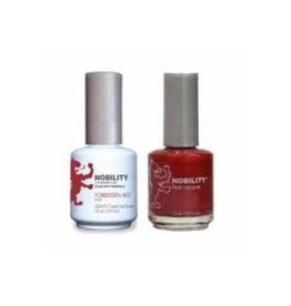 Nobility NBCS013 Forbidden Red - Nobility Duo Gel + Lacquer