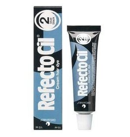 RefectoCil RefectoCil Cream Hair Dye #2 Pure Black 15 ml or 0.5 oz