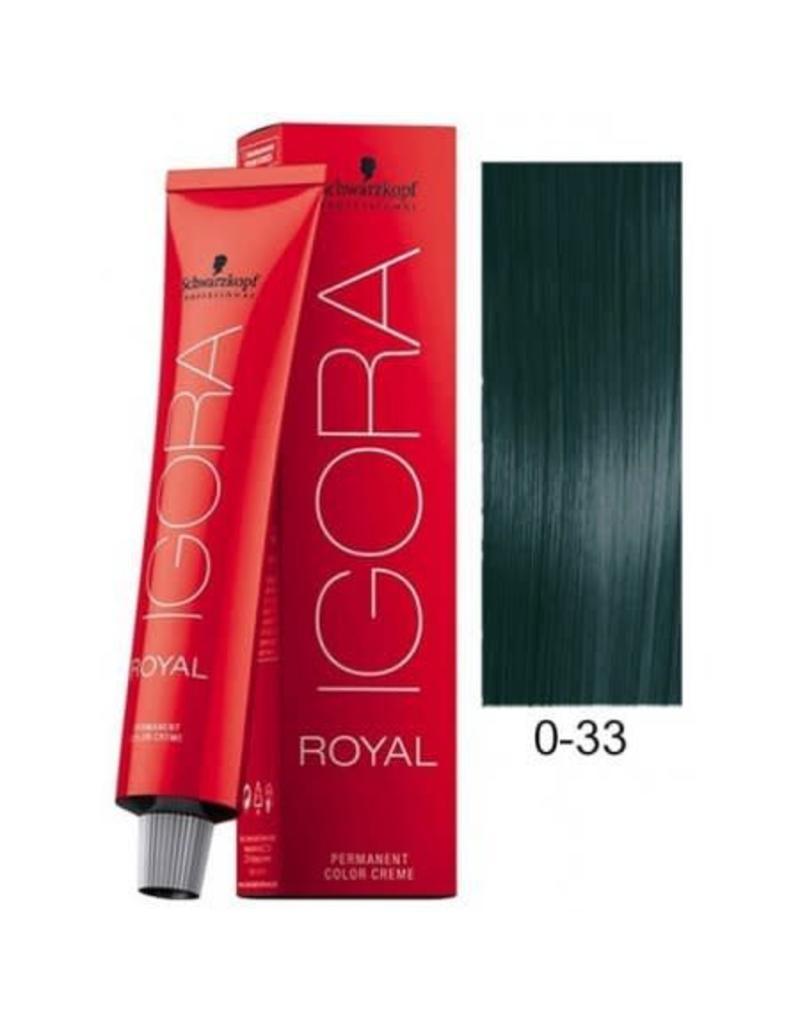 Schwarzkopf #0-33 Anti Red Concentrate - Royal IGORA Schwarzkopf Permanent Color Creme