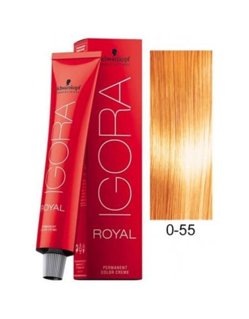 Schwarzkopf #0-55 Gold Concentrate - Royal IGORA Schwarzkopf Permanent Color Creme